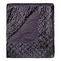 J by Jasper Conran - Designer grey velvet throw