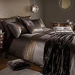 Kylie Minogue at home - Chocolate 'Phoenix' bed linen