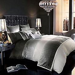 Kylie Minogue at home - Grey 'Sienna' bed linen