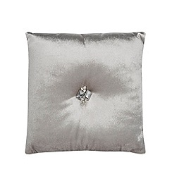 Kylie Minogue at home - Light gold jewelled velvet cushion