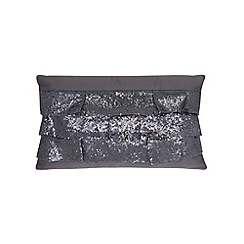 Kylie Minogue at home - Dark grey sequinned ruffles cushion