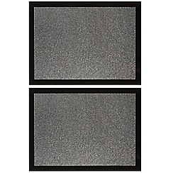 Star by Julien Macdonald - Set of two glitter grid patterned place mats