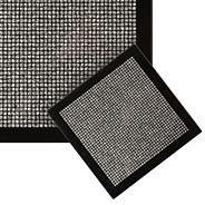 Set of four black glitter coasters