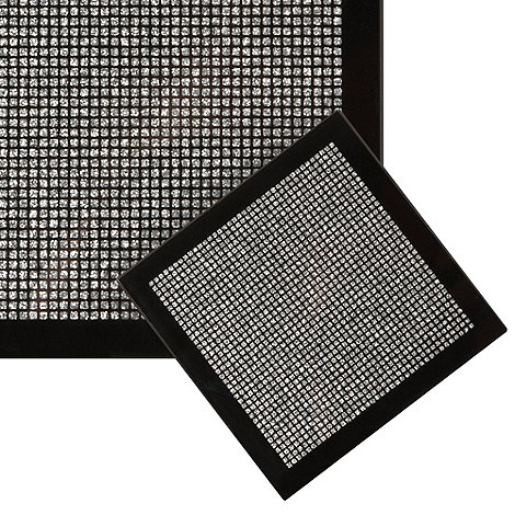 Star by Julien Macdonald - Set of four black glitter coasters