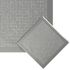 Star by Julien MacDonald - Set of four silver glitter coasters