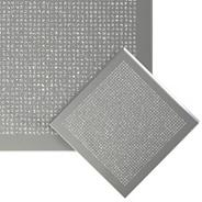 Set of four silver glitter coasters