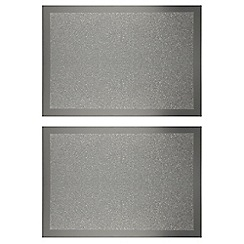 Star by Julien MacDonald - Set of two silver glitter placemats