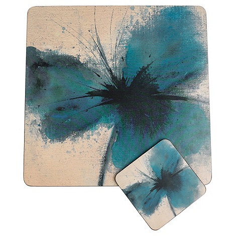 Inspire - Set of four blue poppy placemats