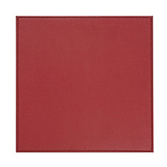 Debenhams - Set of four red faux leather reversible placemats
