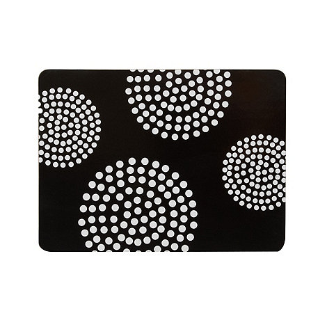 Home Collection Basics - Set of four black spotted circles placemats