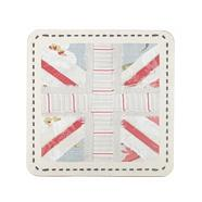 Set of six blue floral 'Union Jack' placemats