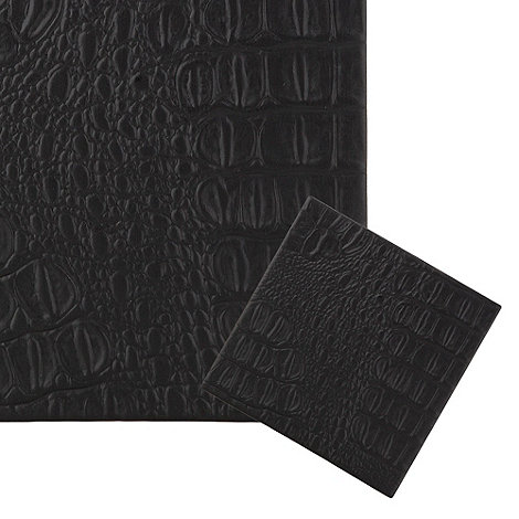 RJR.John Rocha - Set of four black crocodile embossed coasters