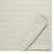 Designer set of two cream broderie napkins