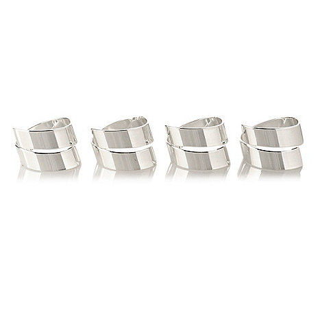 J by Jasper Conran - Set of four silver plated swirl napkin holders