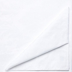 J by Jasper Conran - Set of four white 'Audley' napkins