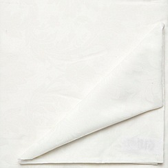 J by Jasper Conran - Set of four ivory 'Audley' napkins