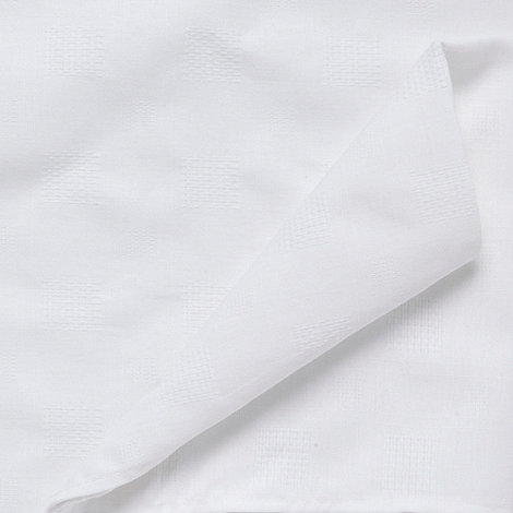 J by Jasper Conran - Set of four white 'Kensington' checked napkins
