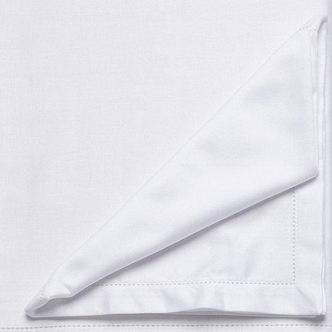 J by Jasper Conran - Medium white hemstitch tablecloth