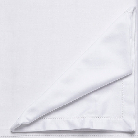 J by Jasper Conran - Set of four white hemstitch napkins