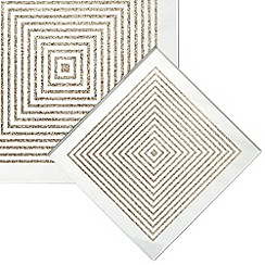 Star by Julien MacDonald - Set of four silver mirrored glitter stripe coasters
