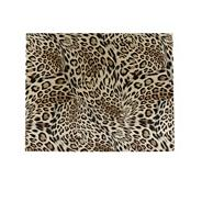 Set of four gold leopard printed place mats