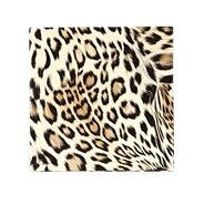 Set of four gold leopard printed coasters
