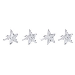 Star by Julien MacDonald - Set of four silver star napkin rings