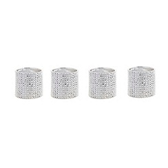 Star by Julien Macdonald - Set of four Silver Ridged Glamour Napkin Rings