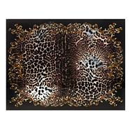 Designer set of two brown leopard placemats