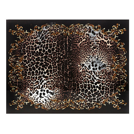 Star by Julien Macdonald - Designer set of two brown leopard placemats