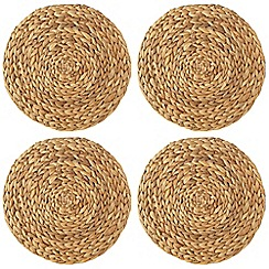 Creative Tops - Set of four light brown weave placemats