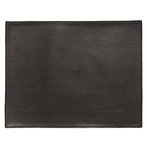 RJR.John Rocha - Single brown faux leather placemat