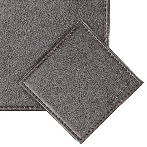 RJR.John Rocha - Set of four brown faux leather coasters