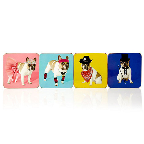 Ben de Lisi Home - Set of four pink dog coasters
