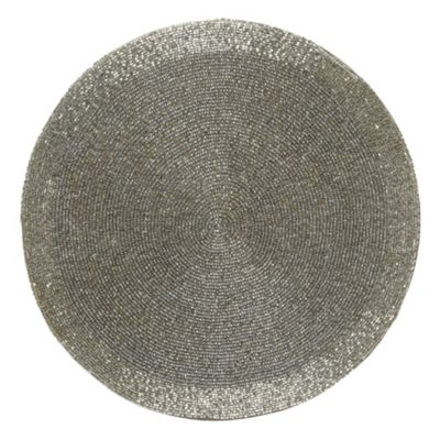 silver beaded place mat