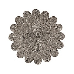 Debenhams - Silver beaded place mat