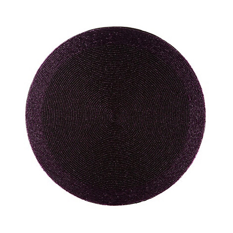 Debenhams - Purple beaded round placemat