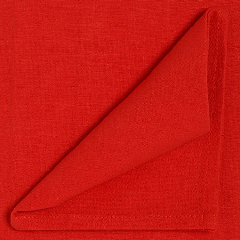 Home Collection Basics - Red medium rectangular cotton table cloth