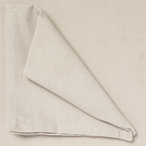 Home Collection Basics - Set of four taupe cotton napkins