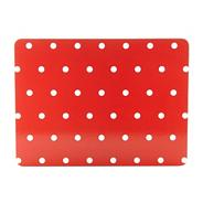 Set of four red spotted placemats