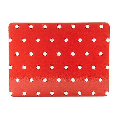 Home Collection Basics - Set of four red spotted placemats