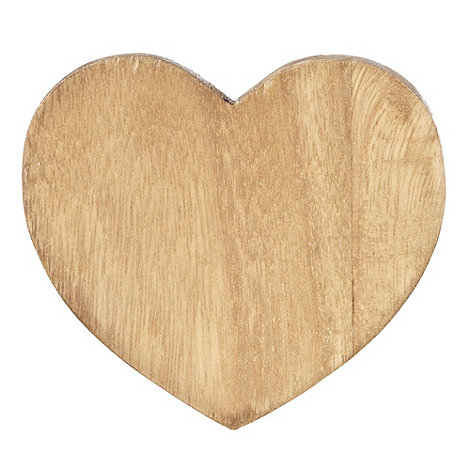 Debenhams - Set of two wooden heart-shaped place mats