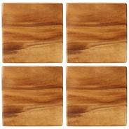 Acacia wood pack of four placemats