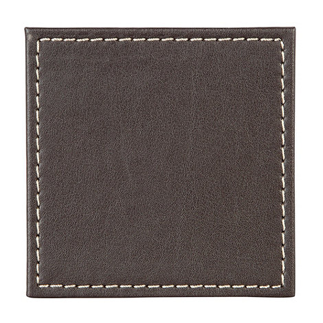 Inspire - Set of four brown pack of four leather-look place mats