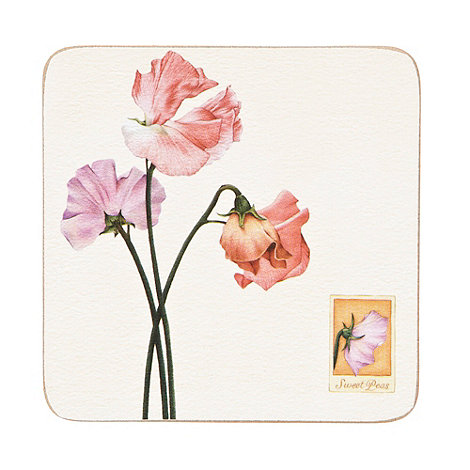 Creative Tops - Set of six cork sweet peas coasters