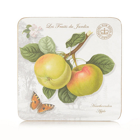 Creative Tops - Set of six white fruit motif square coasters