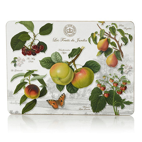 Creative Tops - Set of six white fruit motif rectangular place mats