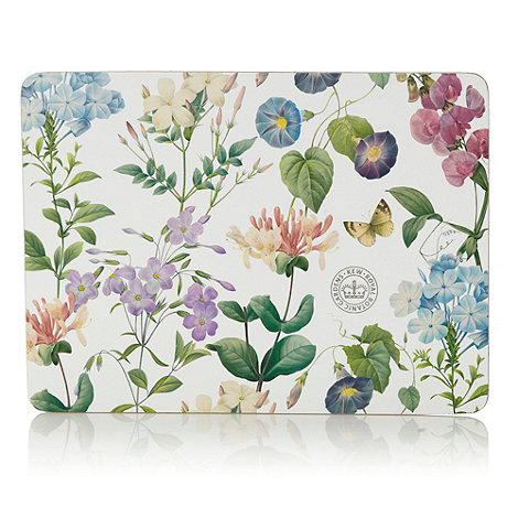 Creative Tops - Set of six white floral rectangular place mats