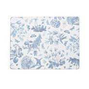 Set of six blue 'Botanic' placemats