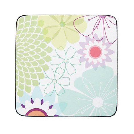 Portmeirion - Set of six white floral coasters